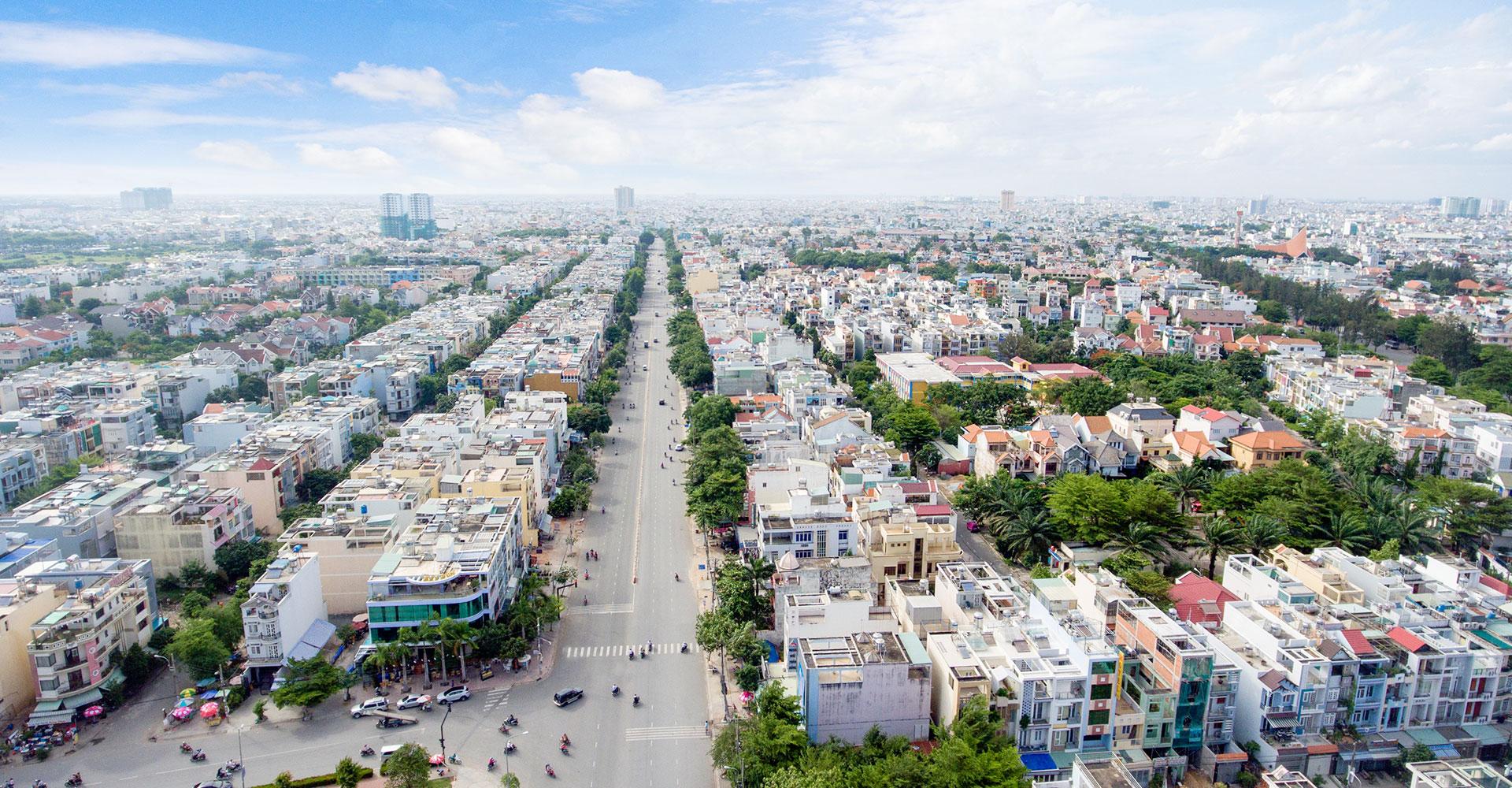 Khu dân cư kiểu mẫu Tên Lửa quận Bình Tân đẫ được qui hoạch đồng bộ về cơ sở hạ tầng.