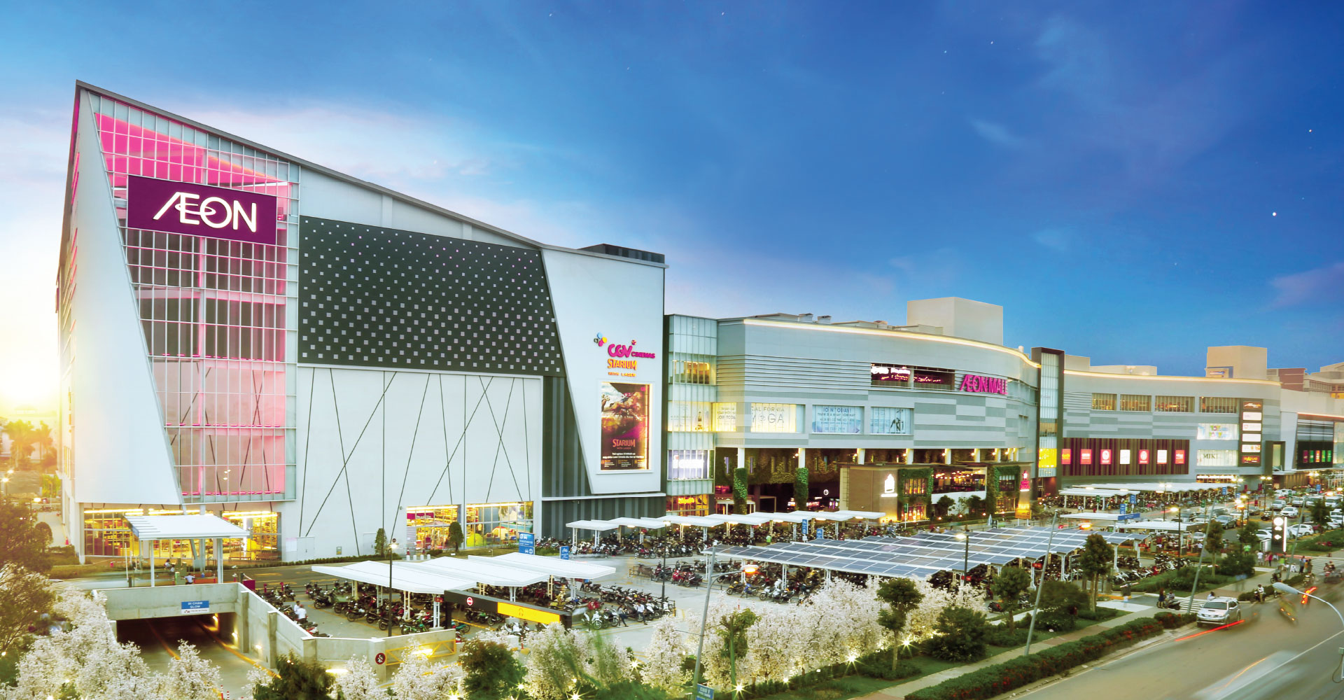 Đại siêu thị Aeon Mall Nhật Bản ngay cạnh dự án Moonlight Park View quận Bình Tân