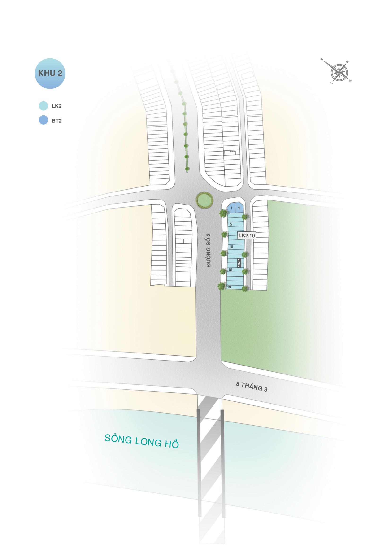 Mặt bằng phân khu 3 dự án đất nền Vinh Long New Town