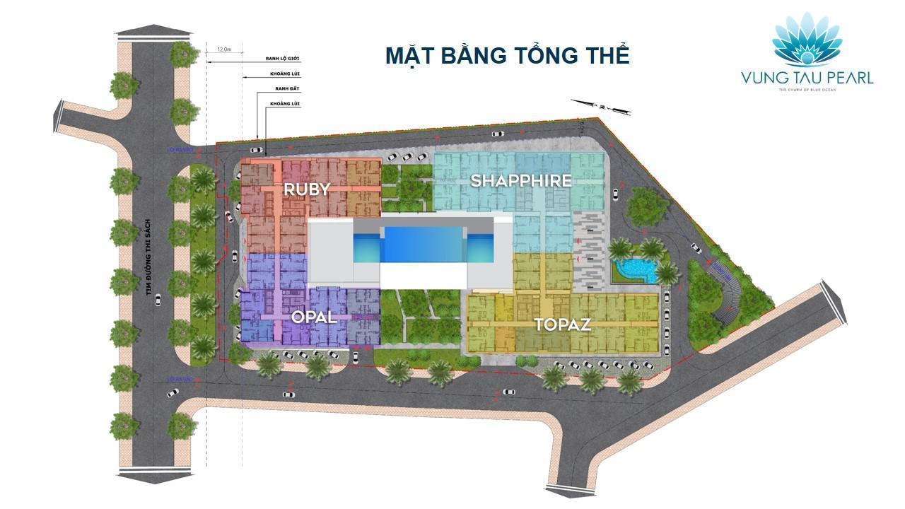 Mặt bằng tổng thể dự án Vung Tau Pearl Hưng Thịnh