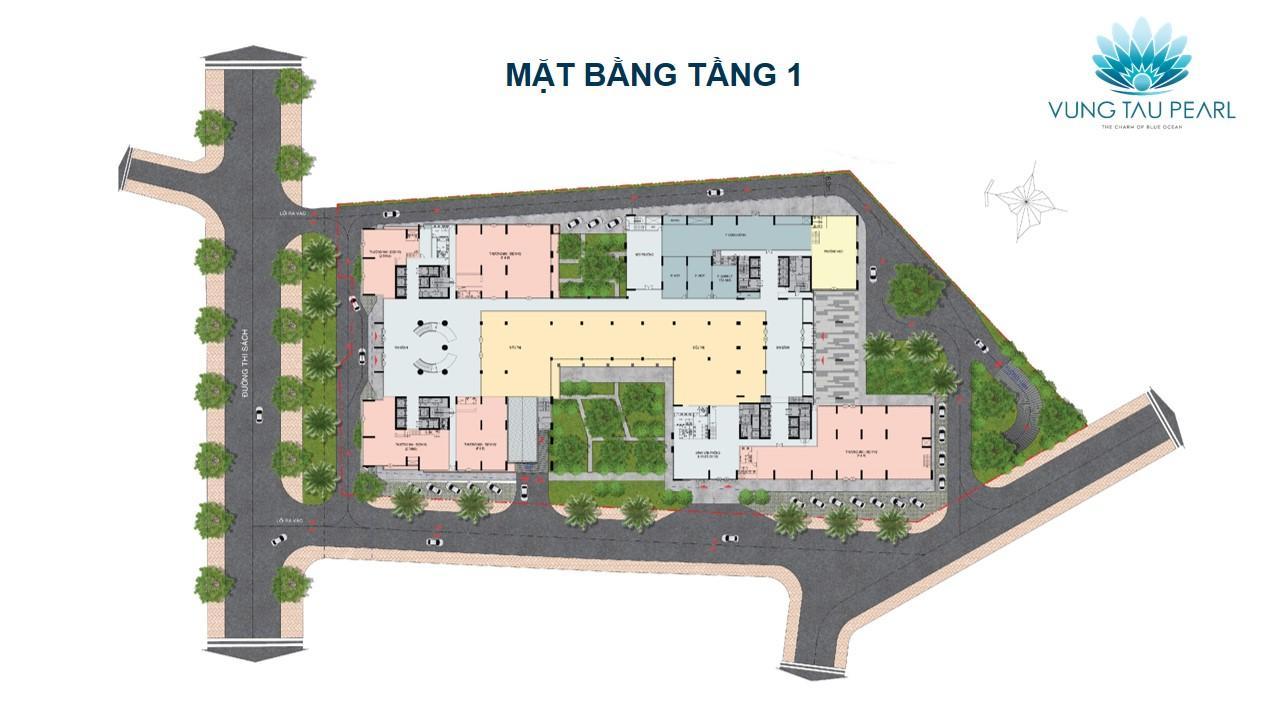 Tầng 1 dự án Vung Tau Pearl là trung tâm thương mại