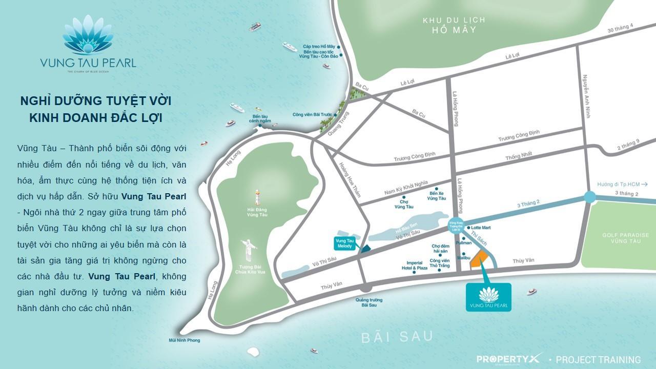 Vị trí dự án căn hộ du lịch Vung Tau Pearl
