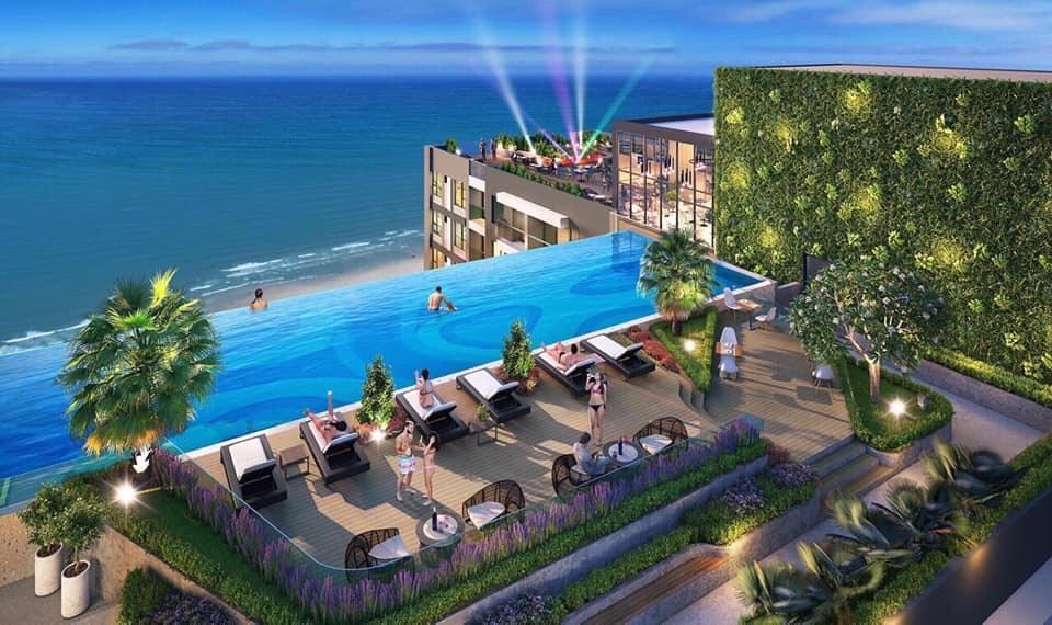 Hồ bơi tràn bờ Vung Tau Pearl tại tầng 33