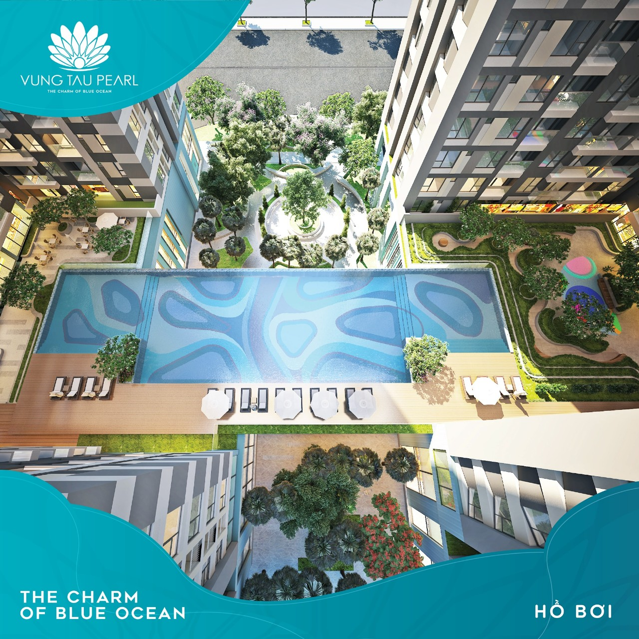 Hồ bơi tầng 3 dự án Vung Tau Pearl