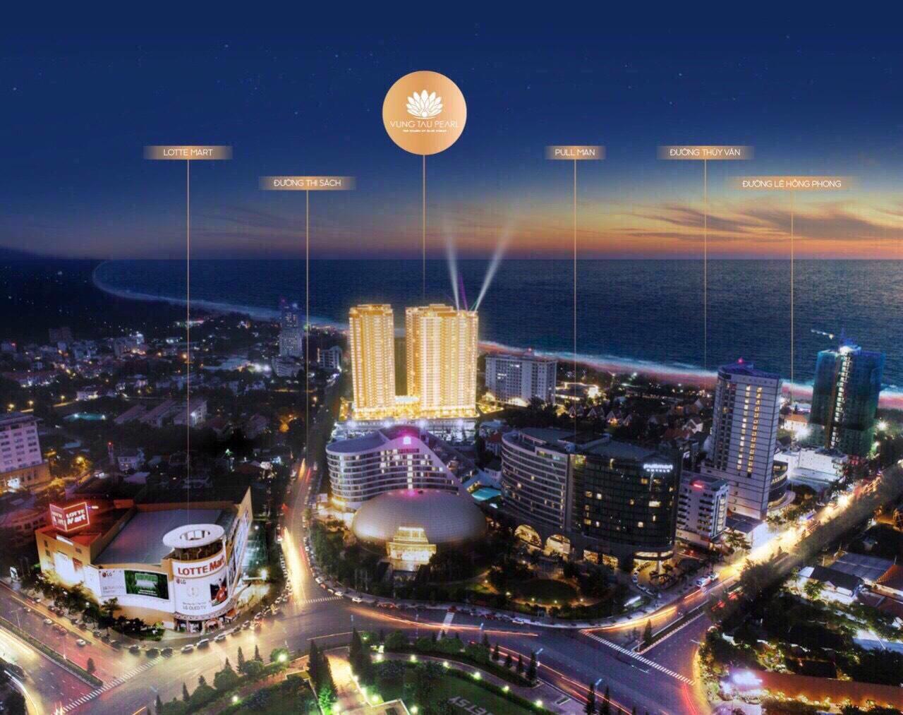 Phối cảnh dự án Vung Tau Pearl về đêm